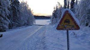 Versicherungsmakler, Vorsorgeexperte und Kreditmakler B-Quadrat   Verkehrsschild im Winter