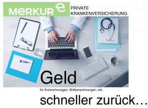 Versicherungsmakler, Vorsorgeexperte und Kreditmakler B-Quadrat   Merkur private Krankenversicherung